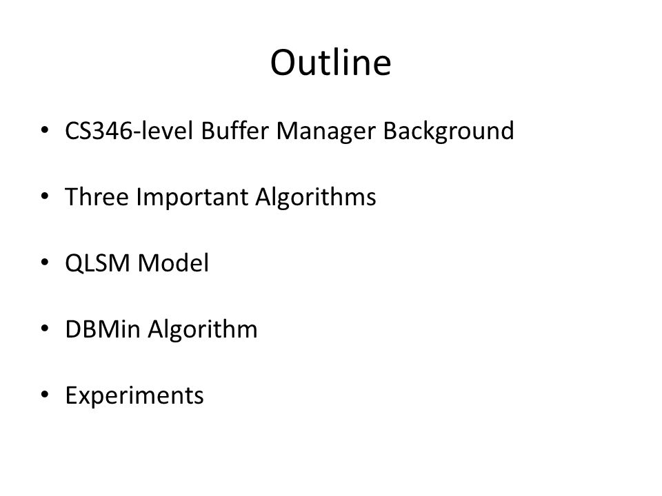 Motivation for QLSM 1.Want to understand that pages should be treated differently.