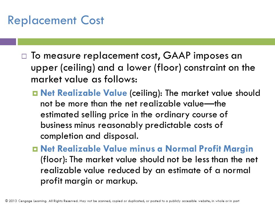 Effects of Inventory Errors (Slide 1 of 2) © 2013 Cengage Learning.