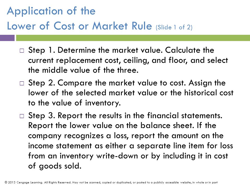 Effects of Inventory Errors (Slide 2 of 2) © 2013 Cengage Learning.