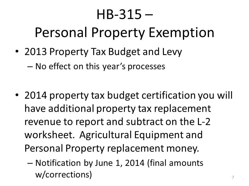 2012 Legislation HB-576 – Levy Election Disclosure New Section I.C.