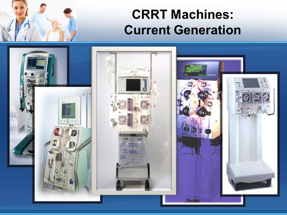 CRRT Machines: Current Generation