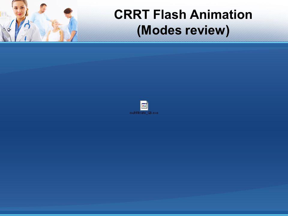 CRRT Flash Animation (Modes review)