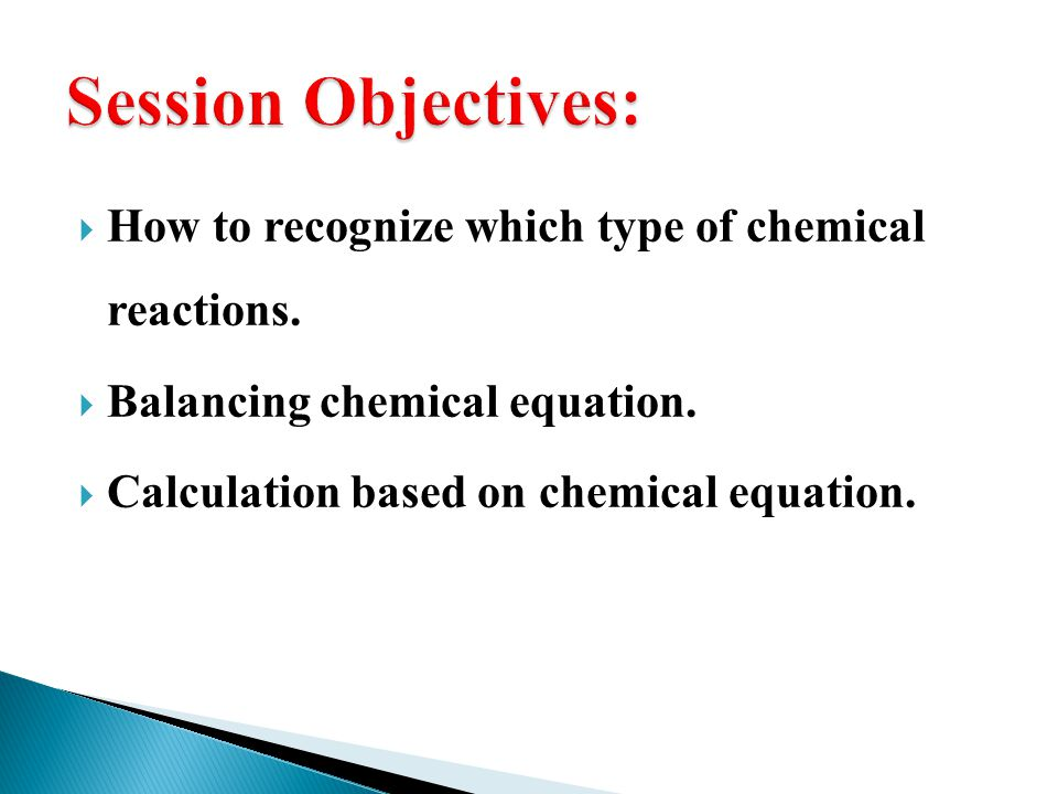 How to recognize which type of chemical reactions.