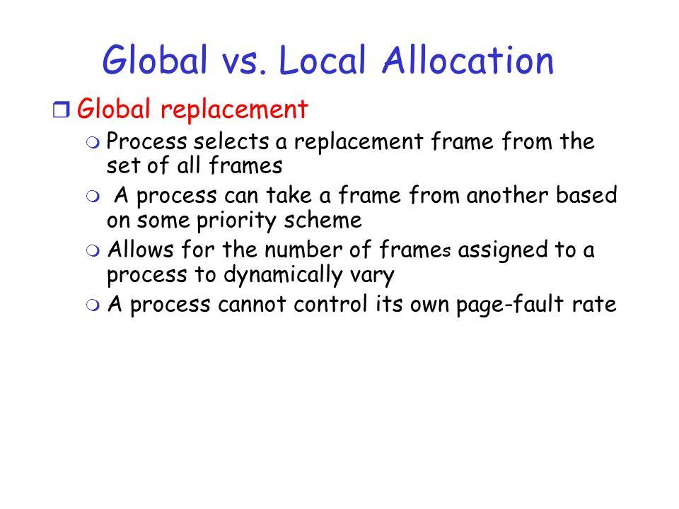 Global vs.