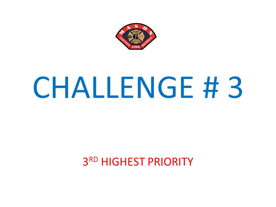 CHALLENGE # 3 3 RD HIGHEST PRIORITY