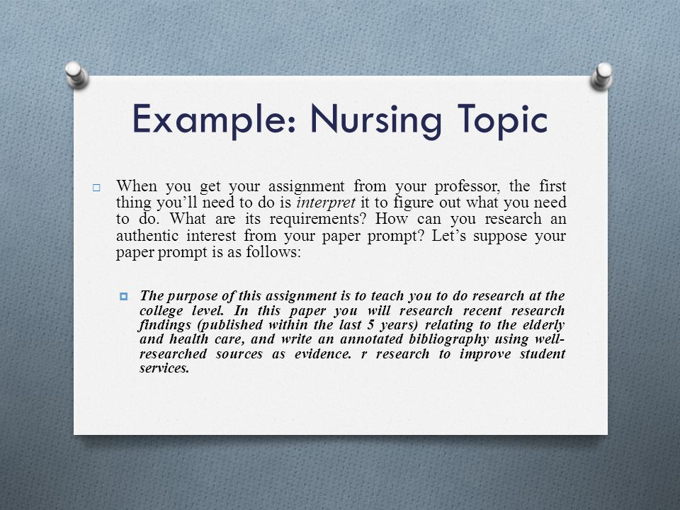 annotated bibliography nursing topics An annotated bibliography is a list of citations to books, articles did you know that you can create annotated bibliographies using easybib citation tools.