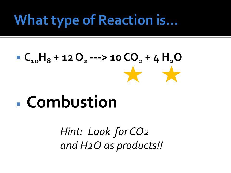 CH 4 + O 2 CO 2 + H 2 O