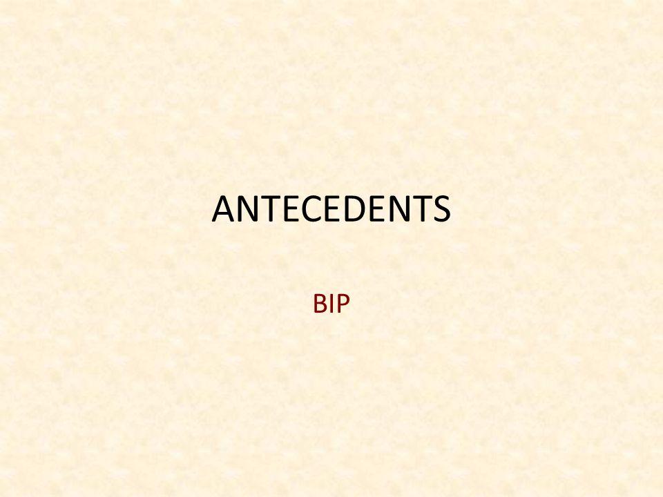 ANTECEDENTS BIP