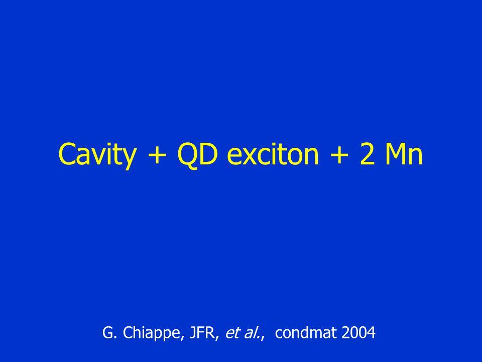 Cavity + QD exciton + 2 Mn G. Chiappe, JFR, et al., condmat 2004