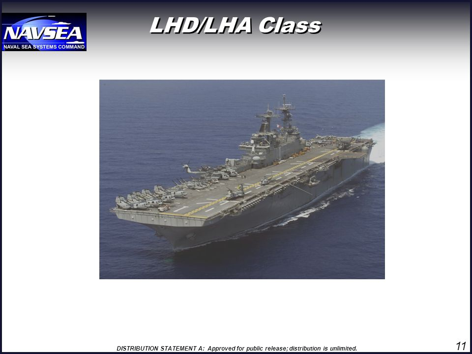DISTRIBUTION STATEMENT A: Approved for public release; distribution is unlimited. LHD/LHA Class 11