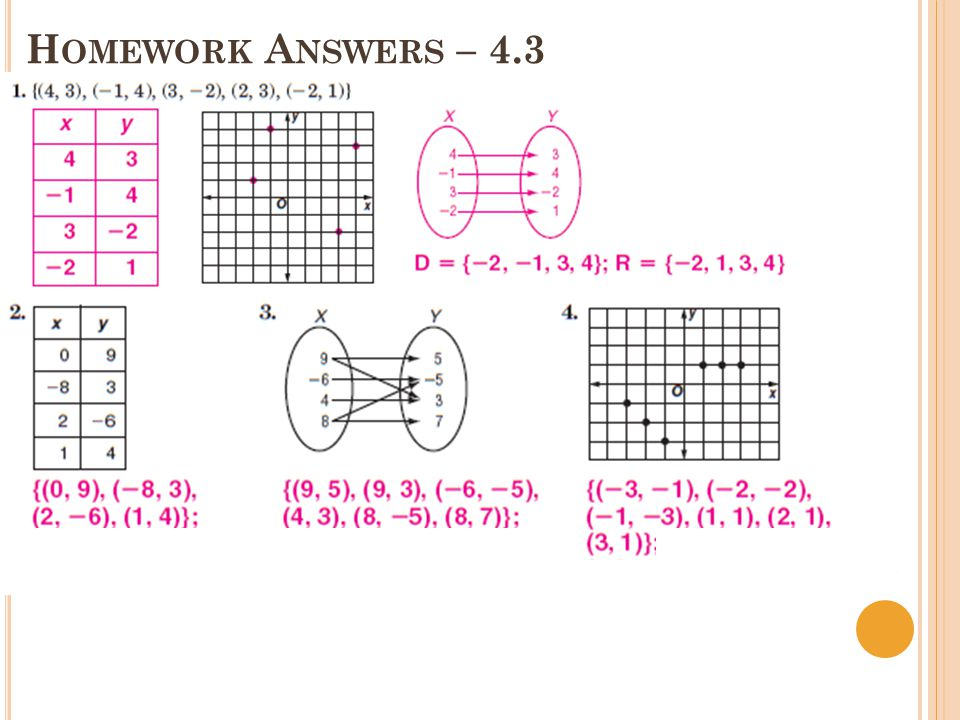 H OMEWORK A NSWERS ( CONT.) – 4.3