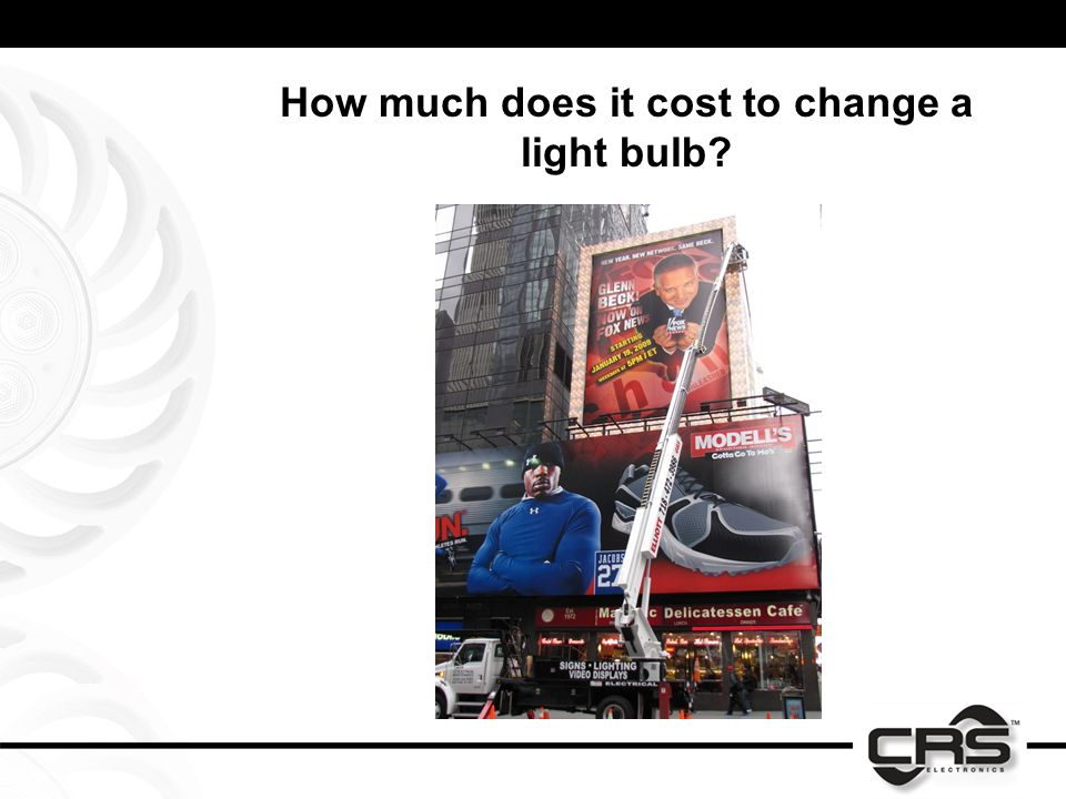 How much does it cost to change a light bulb