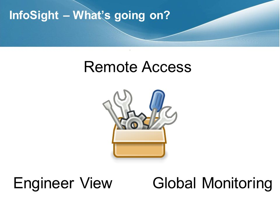 InfoSight – Whats going on? Remote Access Engineer ViewGlobal Monitoring