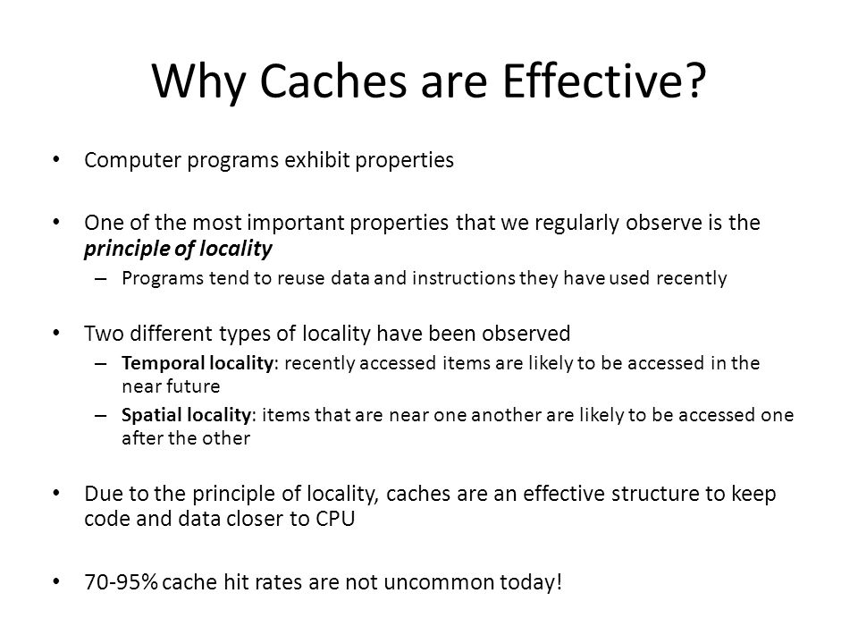 Objectives Discussion on Memory Hierarchy Motivation Cache Management Policies: Placement, Location, Replacement & Write Policies Cache Miss Types Memory-Level Parallelism and Prefetching