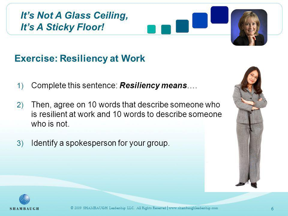 Its Not A Glass Ceiling, Its A Sticky Floor.