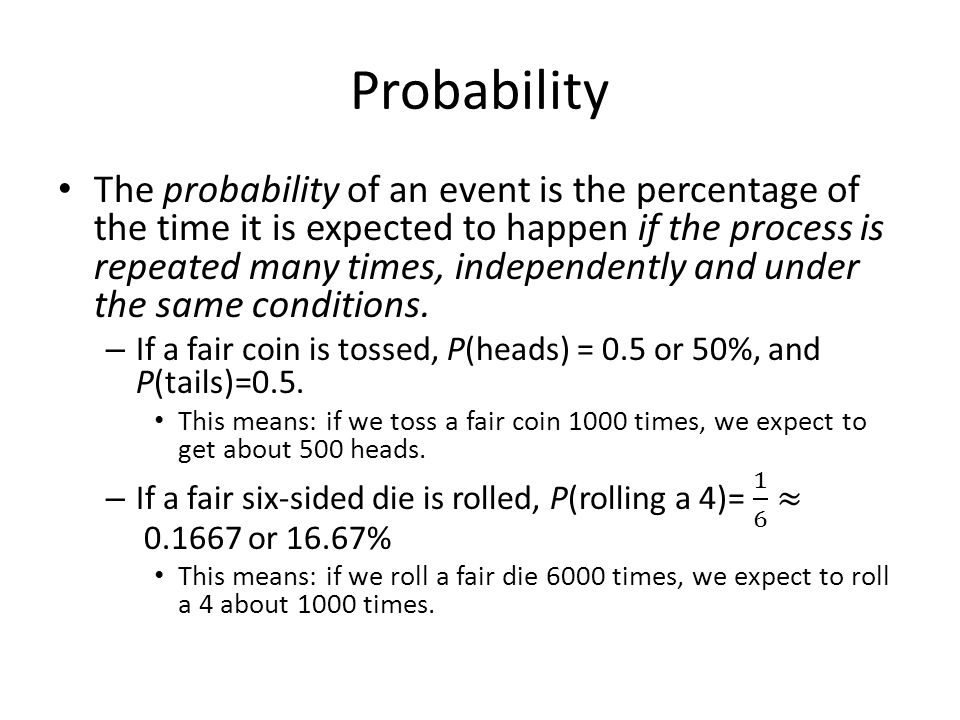 Warnings Use caution when multiplying probabilities.