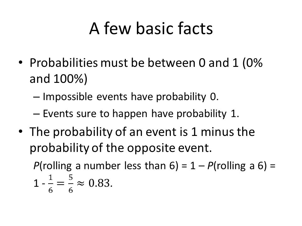 Probability Histogram A graph representing the probability of each numerical outcome in a chance process.