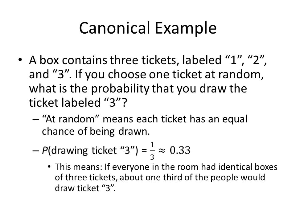 Canonical Example