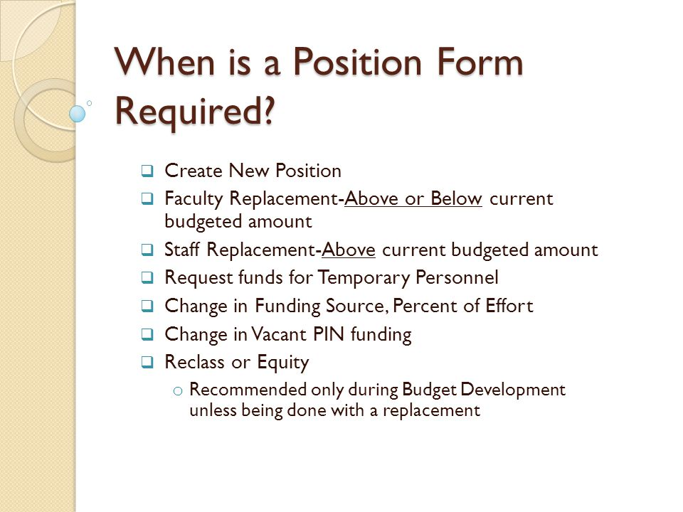 Options for Funding-Requests above Current Budgeted Amount The following options for funding the increase in the budgeted salary include: The department can request that funds are allocated from the VPs Salary Contingency account if available.