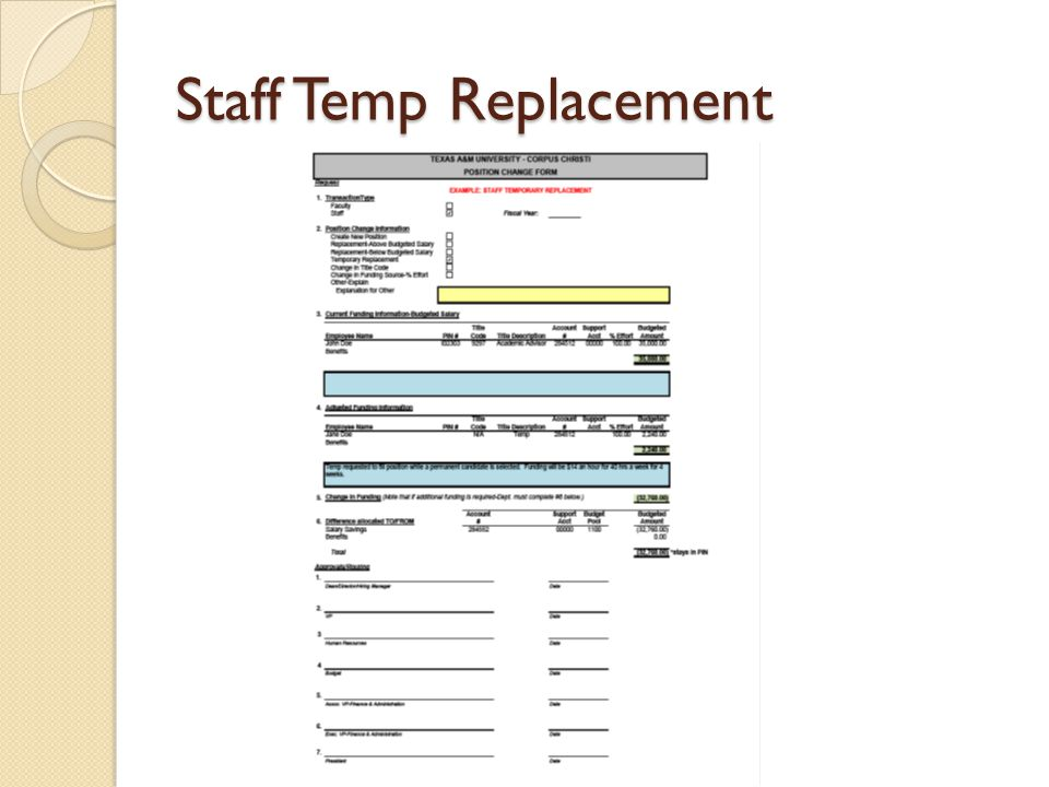 Staff Permanent Replacement