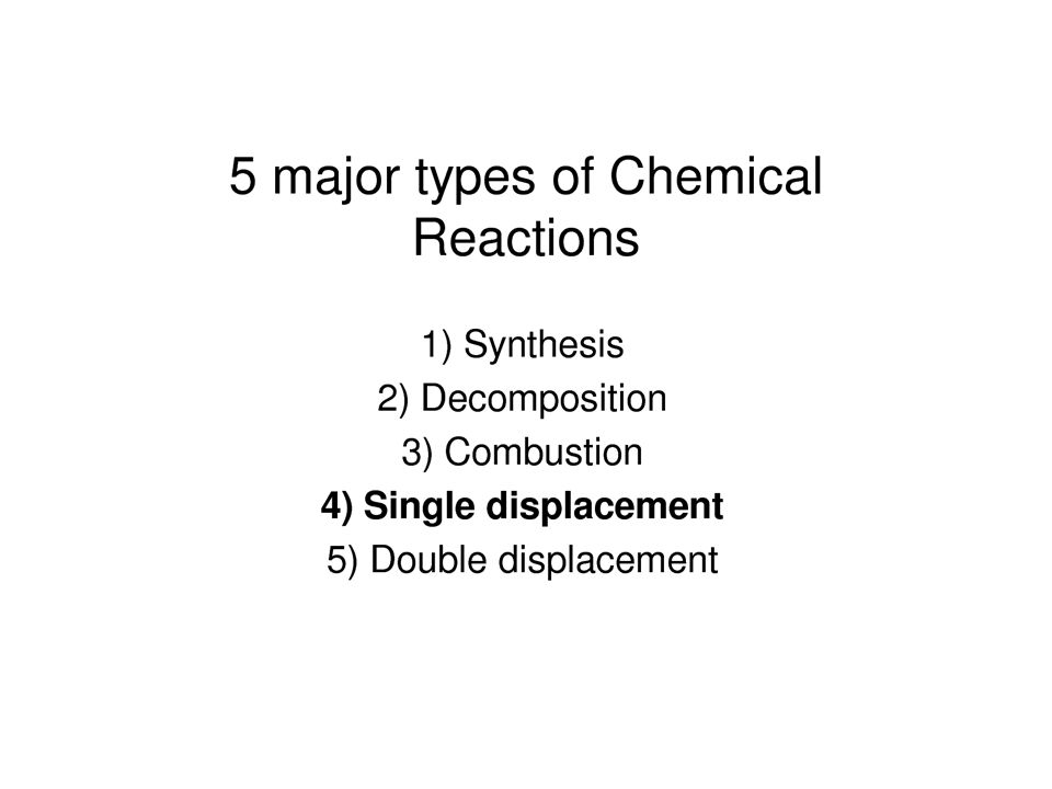 Classifying Chemical Reactions Synthesis Reaction When two elements or substances react it is always a synthesis reaction.