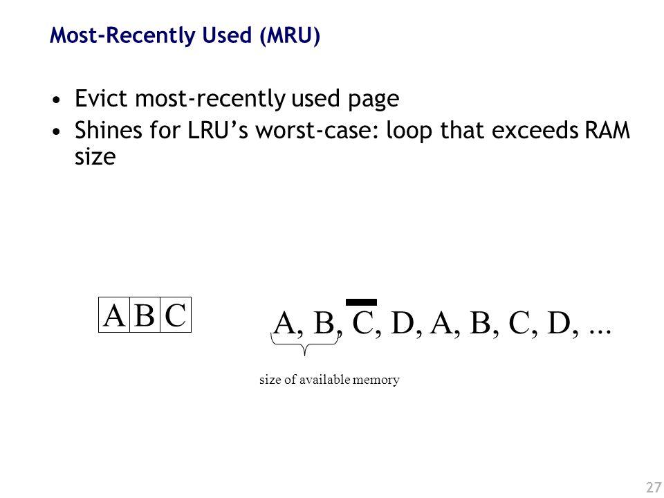 27 ABC A, B, C, D, A, B, C, D,...