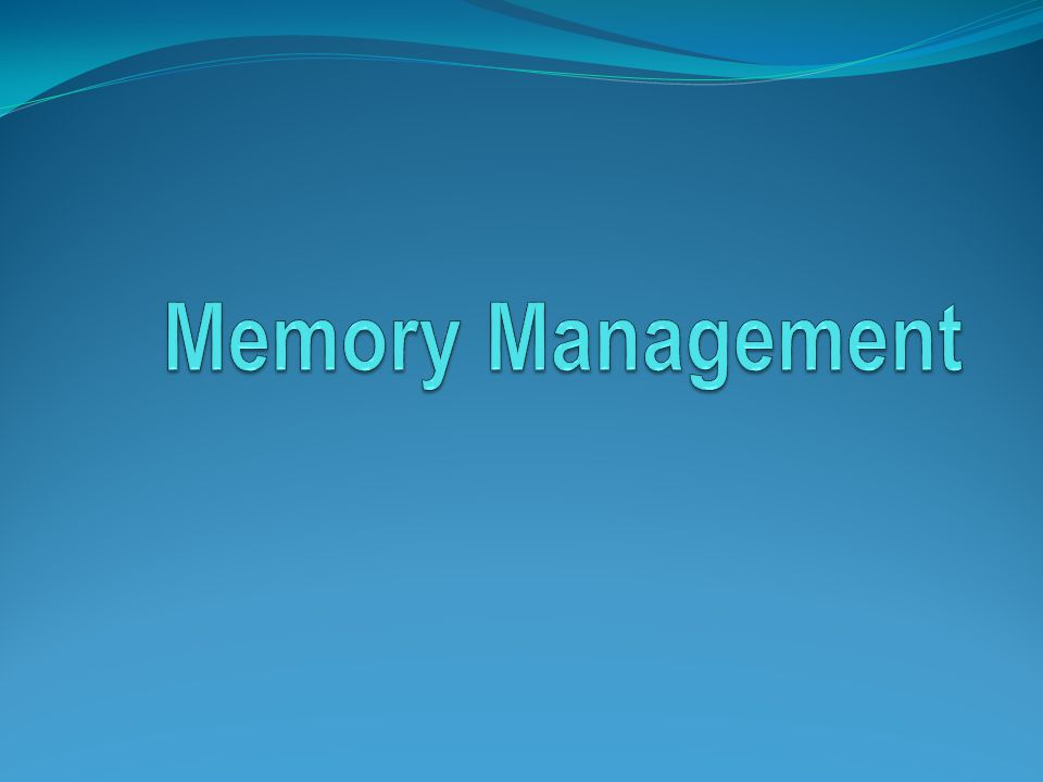 Basic Memory Management Monoprogramming Protection Swapping Overlaying OS space User space