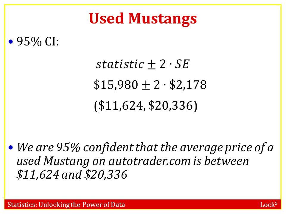 Statistics: Unlocking the Power of Data Lock 5 Used Mustangs Standard Error