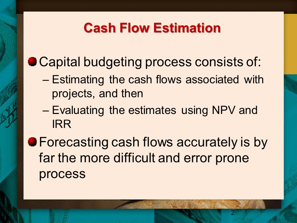 Estimating Cash Flows for Replacement Projects Fewer elements than new ventures Identifying what is incremental can be tricky Difficult to determine what will happen if you dont do the project 23