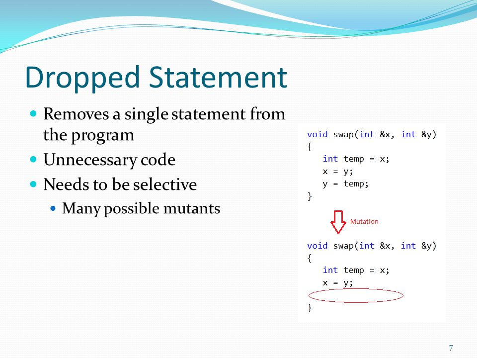 Arithmetic Operator Replacement Swaps arithmetic operators +, -, *, /, % Some frameworks have set translations + always becomes * Others allow any/random swaps 8