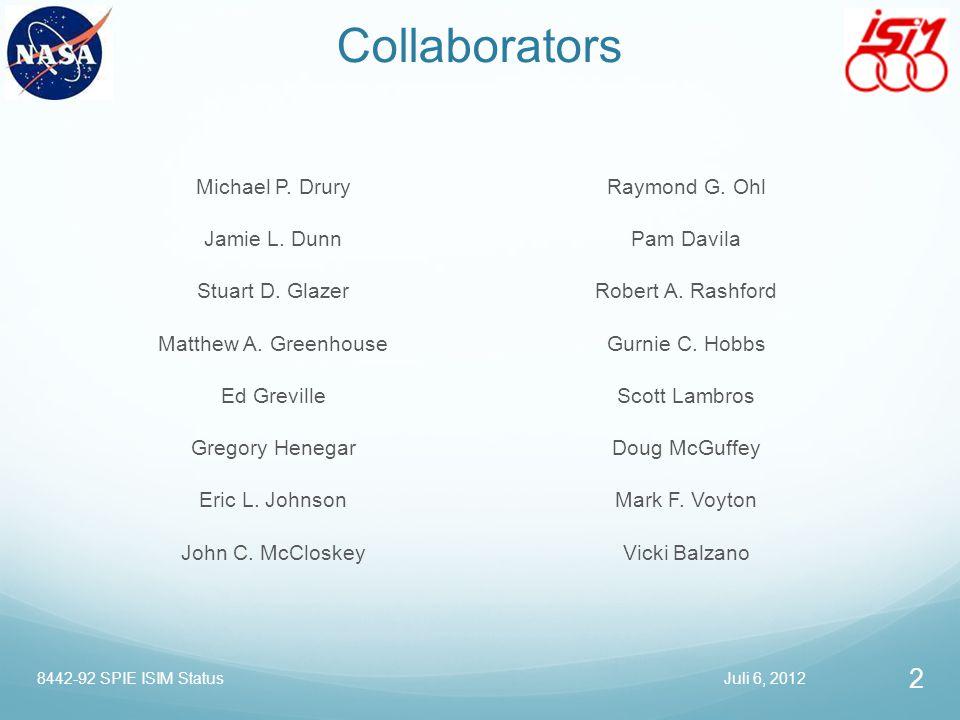 Collaborators Michael P. Drury Jamie L. Dunn Stuart D. Glazer Matthew A. Greenhouse Ed Greville Gregory Henegar Eric L. Johnson John C. McCloskey Raym