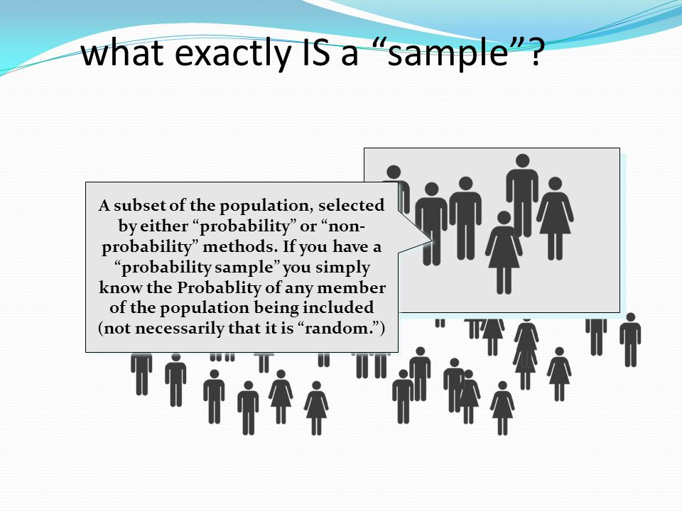 what exactly IS a sample.