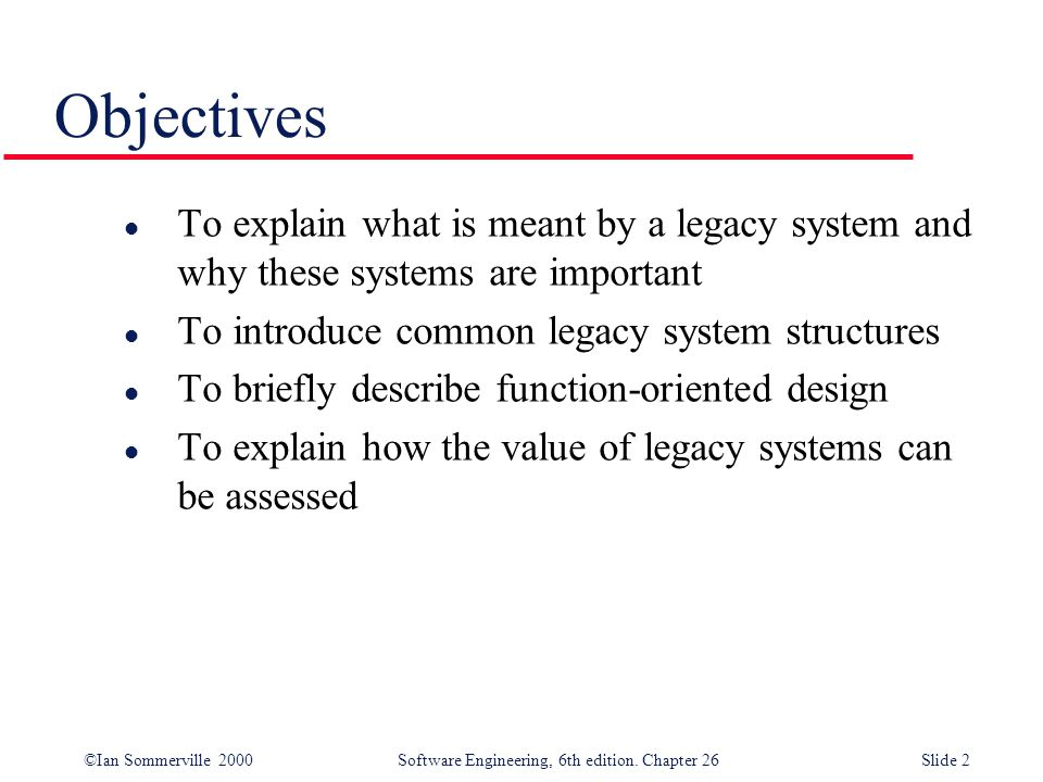 ©Ian Sommerville 2000 Software Engineering, 6th edition. Chapter 26Slide 13 Database-centred system