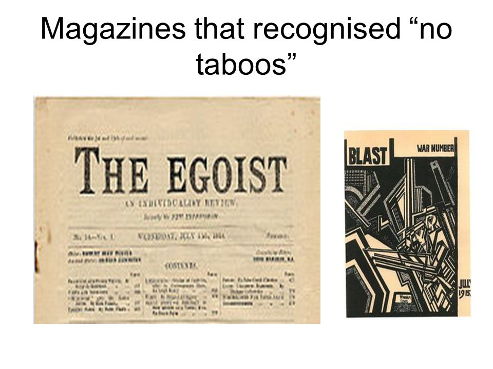 Magazines that recognised no taboos