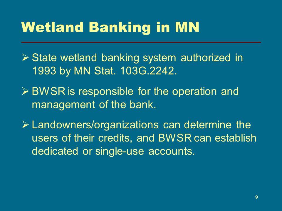 Relevant WCA Statutes MN Stat.103G.2242, Subd.