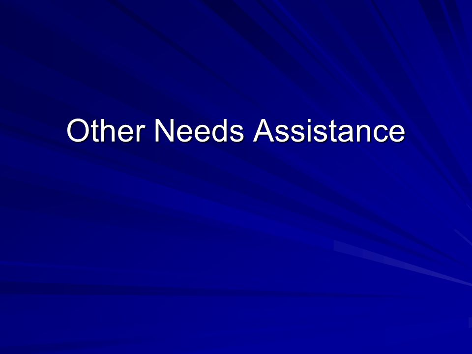 Other Needs Assistance