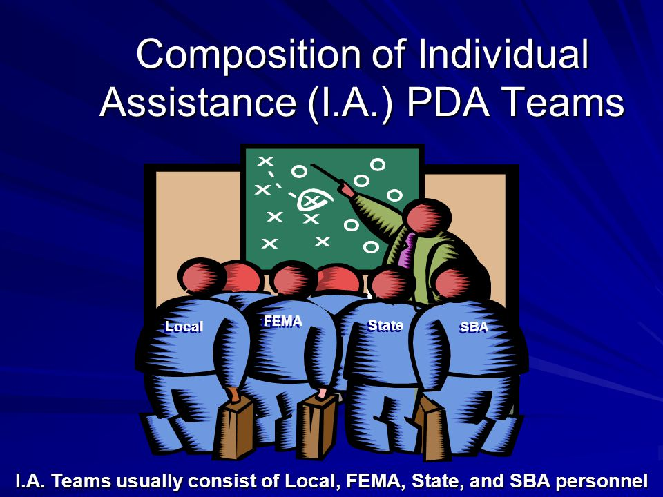 Composition of Individual Assistance (I.A.) PDA Teams I.A.