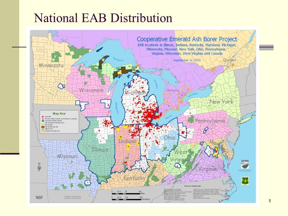 8 National EAB Distribution