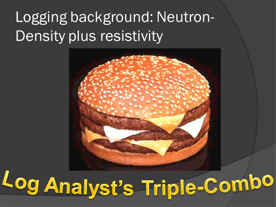 Logging background: Neutron- Density plus resistivity