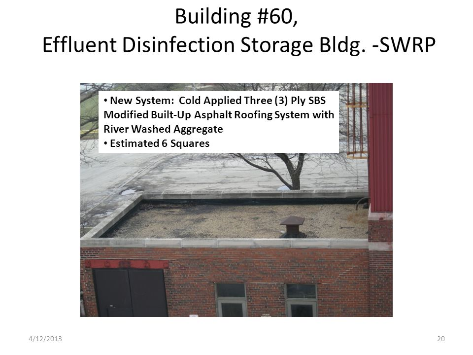 Building #60, Effluent Disinfection Storage Bldg.