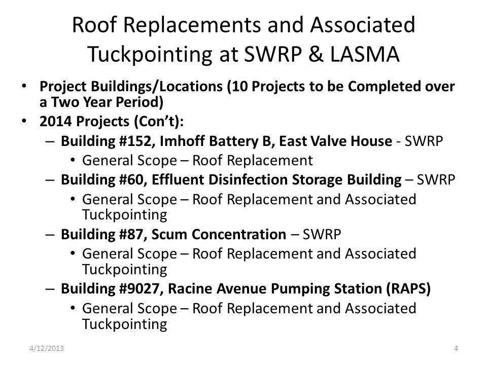 Building #9027, Racine Avenue Pumping Station New System: Northern Half of Bldg.