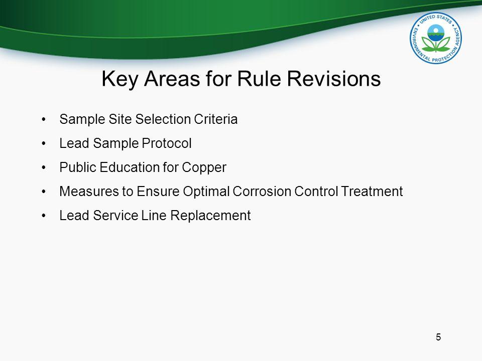 6 Current Site Selection Criteria, Lead (Pb) & Copper (Cu) 3 1.
