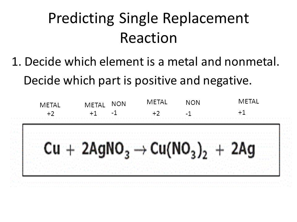 Predicting Single Replacement 2.