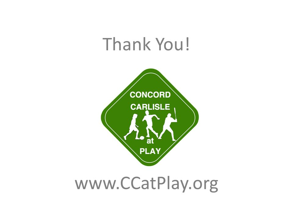 Thank You! www.CCatPlay.org