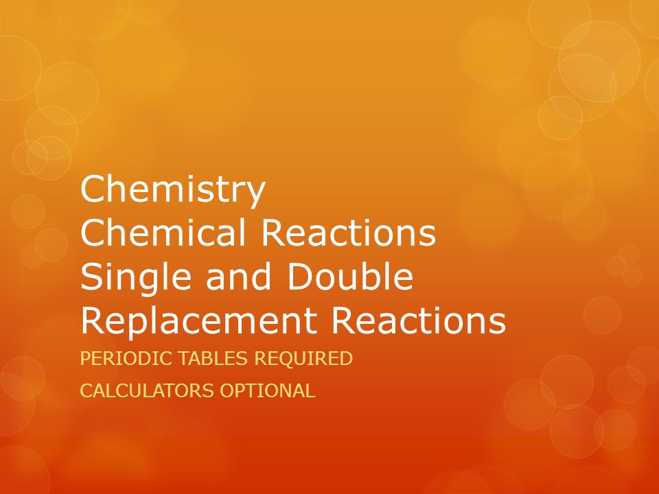 Oxidation and Reduction Single replacement reactions are driven by oxidation and reduction.