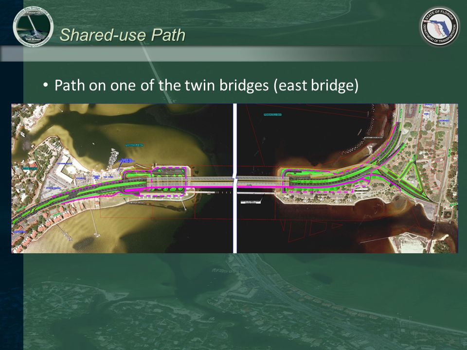Shared-use Path Path on one of the twin bridges (east bridge)