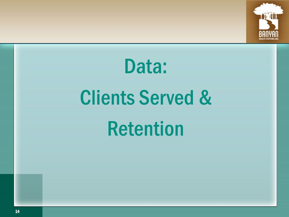 Data: Clients Served & Retention 14