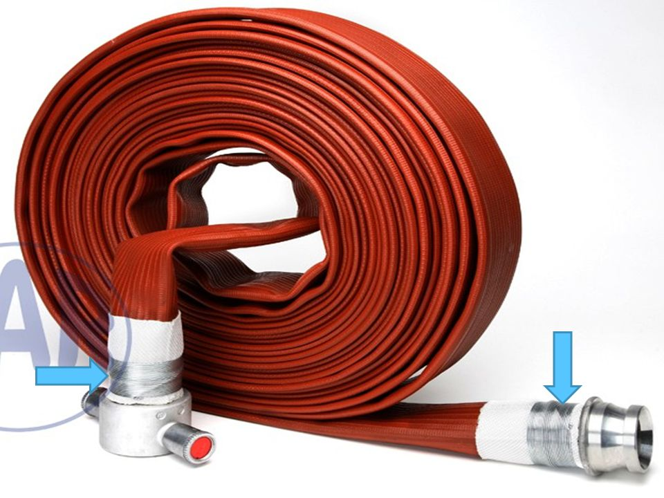 Fire hose wire attached couplings: