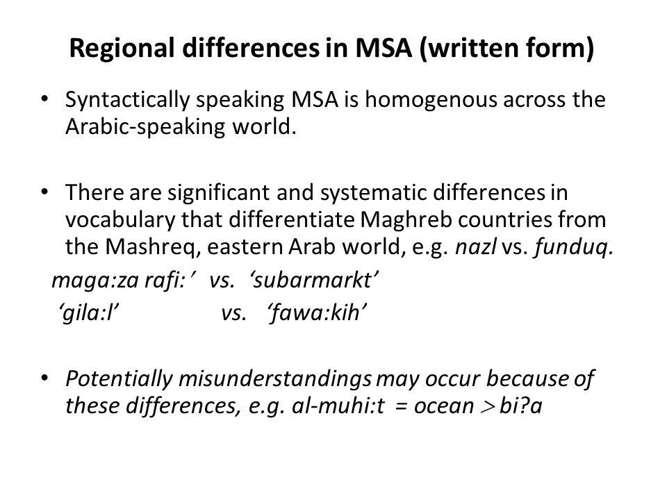 Arabic diglossia: the future Determining factors: 1.