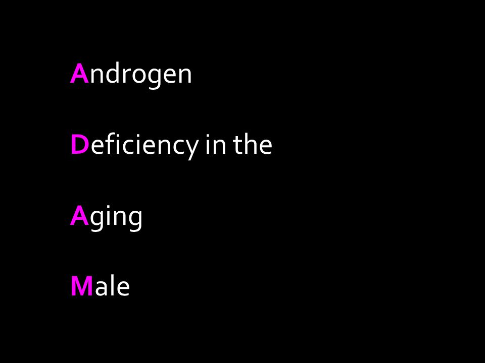 Androgen Deficiency in the Aging Male